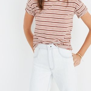 MADEWELL Whisper tee in Cordoba stripe